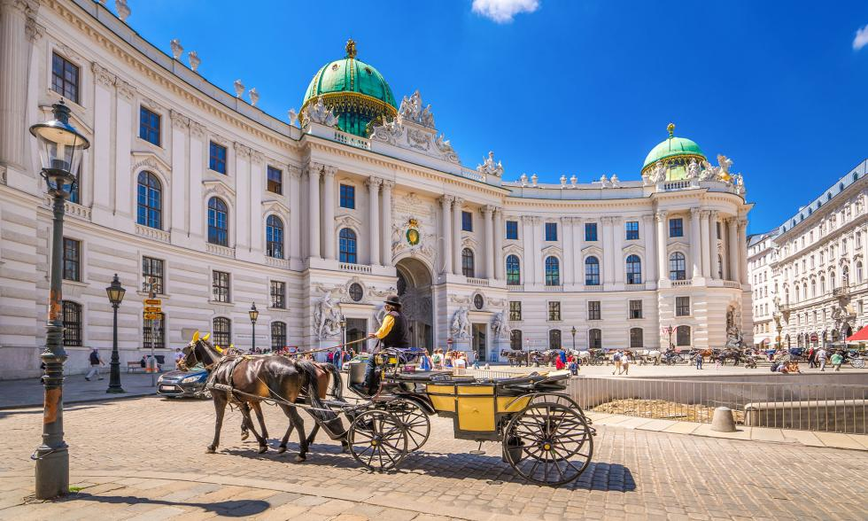Kutsche mit Pferden in Wien
