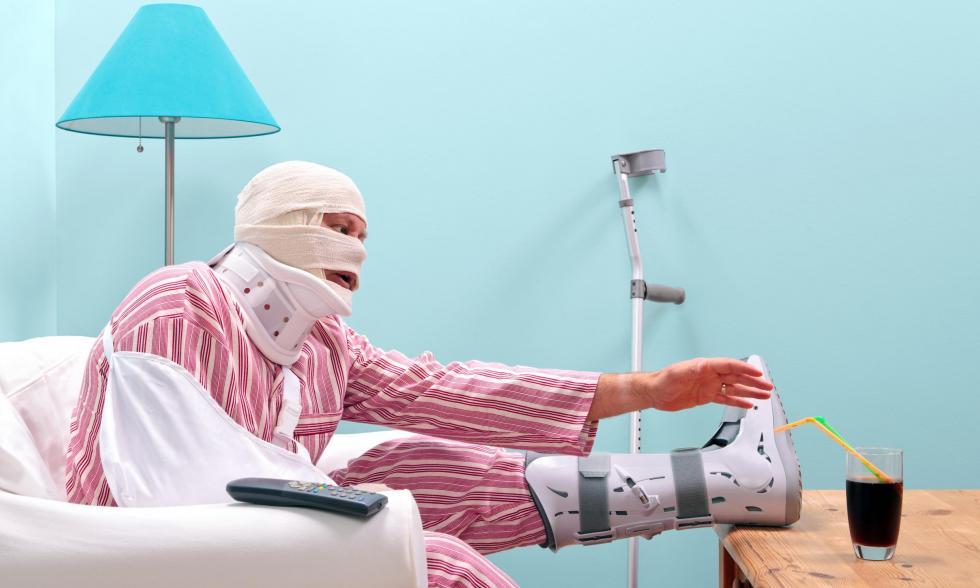 Patient mit gebrochenen Gliedern