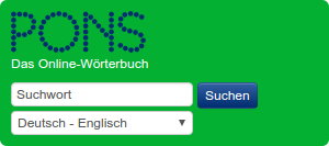 PONS Searchfield Widget for API German-English