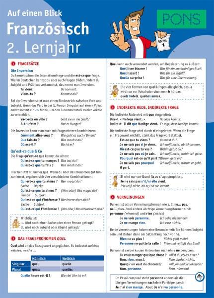 PONS Französisch 2. Lernjahr auf einen Blick