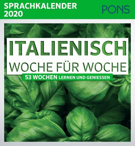 PONS Sprachkalender 2020 Italienisch Woche für Woche