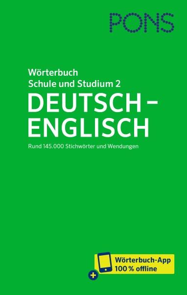 PONS Wörterbuch für Schule und Studium Englisch, Band 2 Deutsch-Englisch